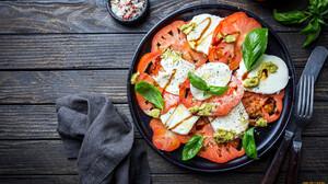 Food Salad Tomatoes Mozzarella 1920x1080 Wallpaper