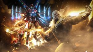 Armor Avengers Endgame Brie Larson Captain Marvel Carol Danvers Iron Man Marvel Comics Superhero Tha 3840x2393 Wallpaper