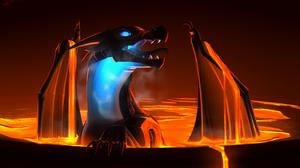 Dragon Dark Lava Wings 3200x1900 Wallpaper