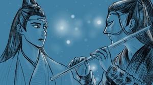 Lan Wangji Lan Zhan Wei Ying Wei Wuxian Xiao Zhan Wang Yibo 2223x1385 wallpaper
