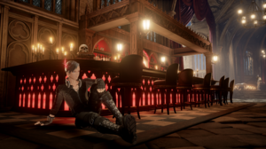 Code Vein Custom Custom Made Chara Bartender Gothic Chair Candles Red Architecture Black Punk Rock F 3840x2160 Wallpaper