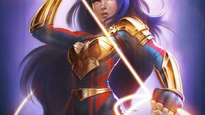 Artwork Fantasy Girl Fantasy Art Women Long Hair Wonder Woman 1389x1984 wallpaper