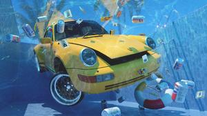 Artwork Digital Can Car Underwater Sinking Porsche Pepsi 1920x1080 Wallpaper