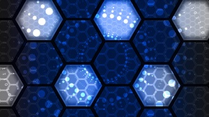 Artistic Blue Hexagon Pattern 5000x3000 Wallpaper