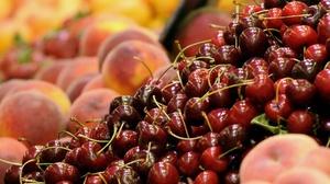 Cherry Fruit Peach 2048x1367 Wallpaper