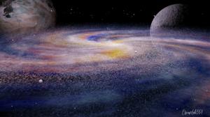 Deep Space Galaxy Planet Fantasy Art Nebula Space 3D Graphics Digital Art 1920x1080 Wallpaper