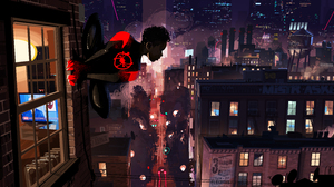 Marvel Comics Miles Morales New York Spider Man Spider Man Into The Spider Verse Superhero 9560x4000 Wallpaper