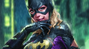 Batgirl Blonde Blue Eyes Bodysuit Dc Comics Girl Mask Rain Smile Stephanie Brown 2560x1920 Wallpaper