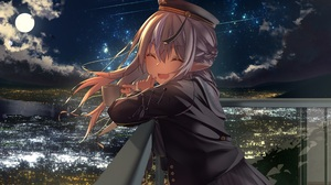 Anime Anime Girls Inaba Teitoku Artwork Hololive Virtual Youtuber Shiranui Flare Pointy Ears Night C 4093x2894 Wallpaper