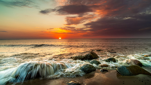 Sea Water Beach Sunset Sky Clouds Photography Nature Outdoors 2024x1350 Wallpaper