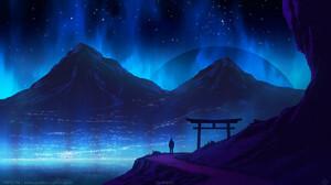 Landscape Sky Kvacm Torii 1440x810 wallpaper