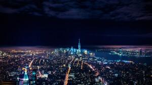 Building City Light New York Night Skyscraper 5855x3903 Wallpaper