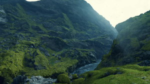 Video Game Art Video Games Screen Shot Death Stranding Hideo Kojima Mountains Green Sony PlayStation 1920x1080 Wallpaper