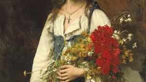 Realism Portrait Oil Painting Canvas Summertime Russian Alexej Alexejewitsch Harlamoff Painting 1932x2481 Wallpaper