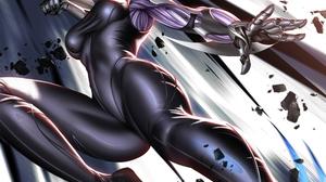 Liang Xing Alita Battle Angel Weapon Illustration Artwork Digital Movie Characters 3500x4000 Wallpaper