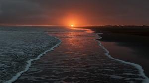 Beach Horizon Nature Sunset 3840x2160 wallpaper