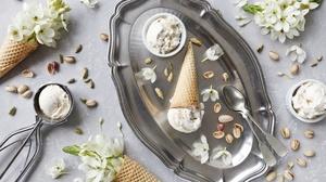 Ice Cream Still Life Waffle Cone 5616x3744 Wallpaper