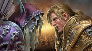 Anduin Wrynn Sylvanas Windrunner World Of Warcraft 2400x1350 Wallpaper