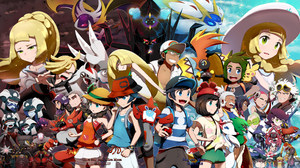 Boy Elio Pokemon Girl Gladion Pokemon Hau Pokemon Lillie Pokemon Pokemon Selene Pokemon 2304x1296 Wallpaper