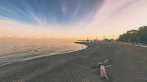 Beach Sunset Toronto Nature Landscape Sand Water Ocean View Water Ripples Coast Coastline Filter Fil 3840x2160 Wallpaper