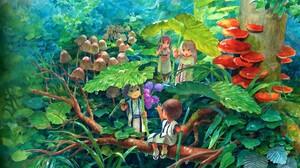 Child Colorful Fantasy Forest Mushroom 1920x1200 Wallpaper