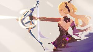 Anime Girls Genshin Impact Fischl Genshin Impact Bow 5442x3061 Wallpaper