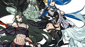 Guilty Gear Dizzy Guilty Gear Testament Guilty Gear Blue Hair Anime Games Anime Girl With Wings Coup 2048x1621 Wallpaper