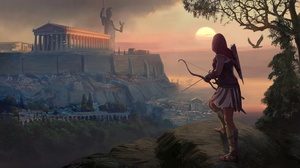 Archer Assassin 039 S Creed Odyssey Bow Girl Woman Warrior 3815x2160 Wallpaper