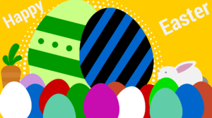 Egg Holiday Easter Bunny Colors Carrot 1920x1080 Wallpaper