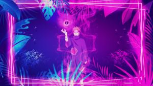 Pein Naruto Shippuuden Akatsuki Naruto Shippuuden Picture In Picture Digital Neon 3000x1688 Wallpaper