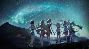 Durandal Houkai Impact 3rd Murata Himeko Night Sky Theresa Apocalypse 4885x2700 wallpaper
