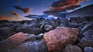 Nature Outdoors Sky Rock Stones 2048x1152 Wallpaper