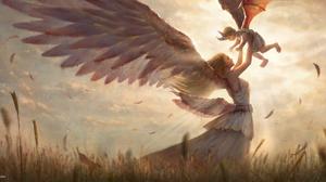 Angel Wings 2051x1080 Wallpaper