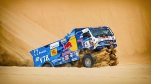 Desert Rallying Sand Truck Vehicle 4800x2900 Wallpaper