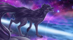Wolf Space Neon 2655x1598 Wallpaper