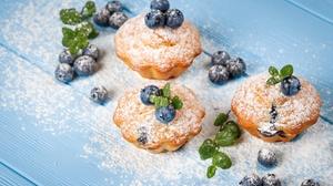 Blueberry Madeleine Pastry Still Life 2048x1365 Wallpaper