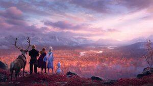 Anna Frozen Elsa Frozen Frozen 2 Kristoff Frozen Olaf Frozen Sven Frozen 6719x2814 Wallpaper