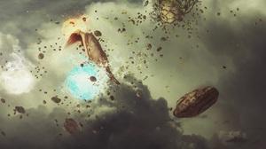 Elemental Fantasy Landscape Manipulation Woman 2560x1440 Wallpaper