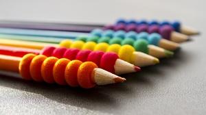 Close Up Colors Pencil 5184x2818 wallpaper