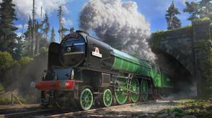 Rob Green Train Vehicle Locomotive Steam Locomotive Steam Train 3300x2213 Wallpaper