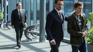 Jon Favreau Robert Downey Jr Spider Man Homecoming Tom Holland Tony Stark 5322x3548 Wallpaper
