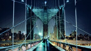 Bridge Night New York 1920x1200 Wallpaper