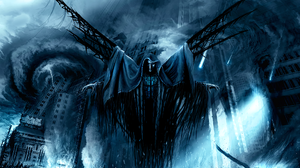 Angel Apocalypse Apocalyptic Blue City Dark Demon Destruction 1920x1440 Wallpaper