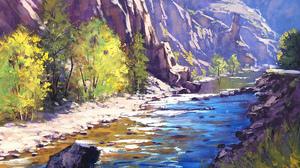 River Tree 1920x1200 Wallpaper