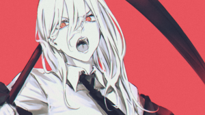 Chainsaw Man Power Chainsaw Man Anime Anime Girls Angry Face Fangs Red Eyes Tie Simple Background Re 2800x2400 Wallpaper