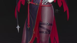 Rosaria Genshin Impact Genshin Impact Video Games Anime Anime Girls Thigh Strap 2D Artwork Drawing I 1527x3000 Wallpaper
