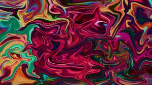Abstract Fluid Liquid Colorful Artwork Digital Art Shapes Paint Brushes 8 K 3840x2160 Wallpaper