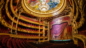 Vault Curtain Interior Chandelier Sculpture Palais Garnier 7360x4912 Wallpaper