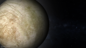 Europa Space Watermarked 3D Graphics 1920x1080 Wallpaper