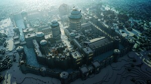 Building Castle City Minecraft Mojang 3000x1900 Wallpaper